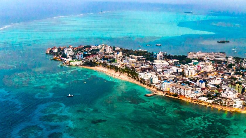 Vista geral para a ilha de San Andrés