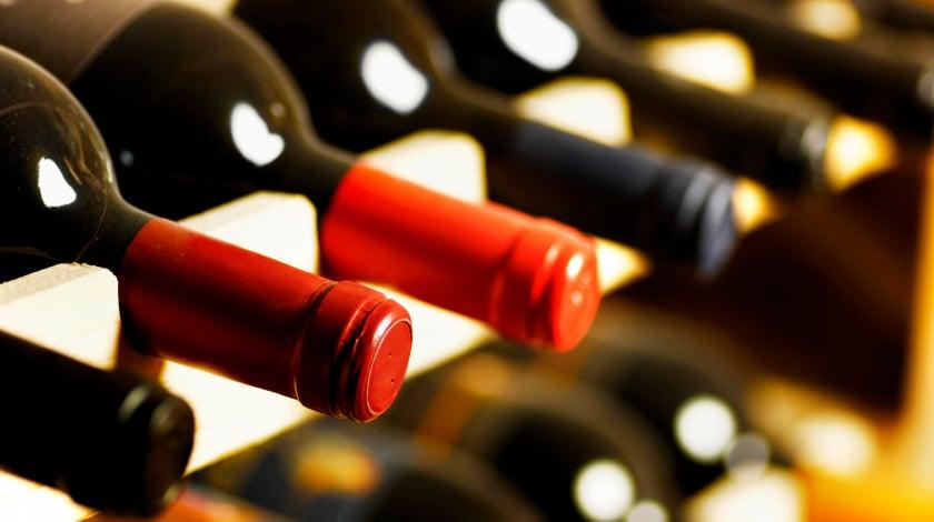 Garrafas de vinho no Bistrô Bar do Leão