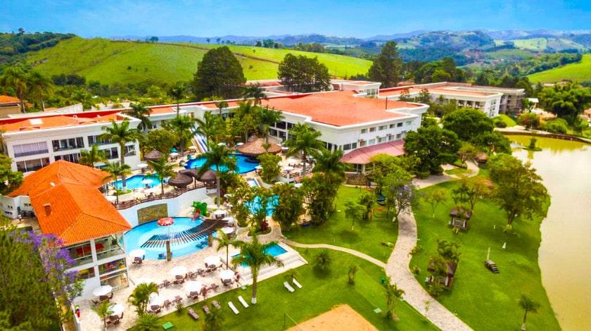 Vista aérea do Vale Suíço Resort, na promoção Ofertas de Carnaval
