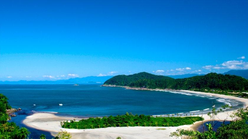 Praia Barra do Una , em São Sebastião