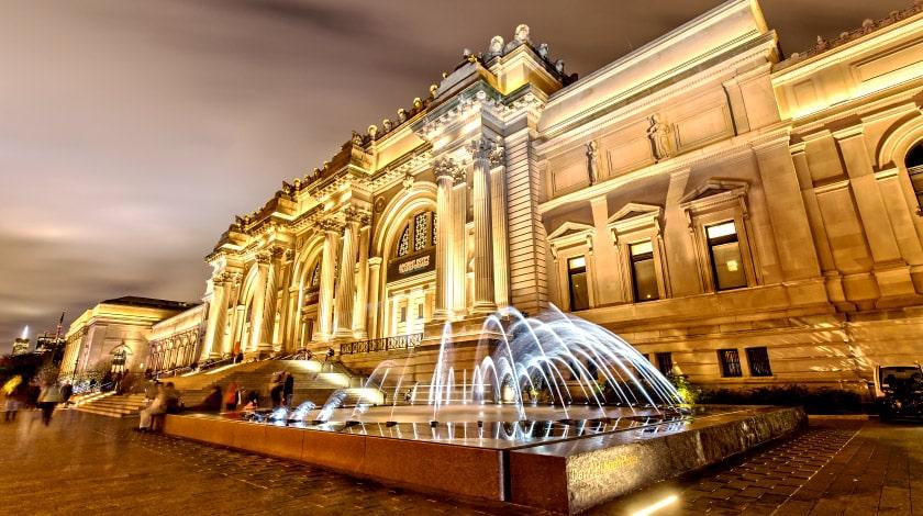 Metropolitan Museum of Art durante o inverno em Nova York