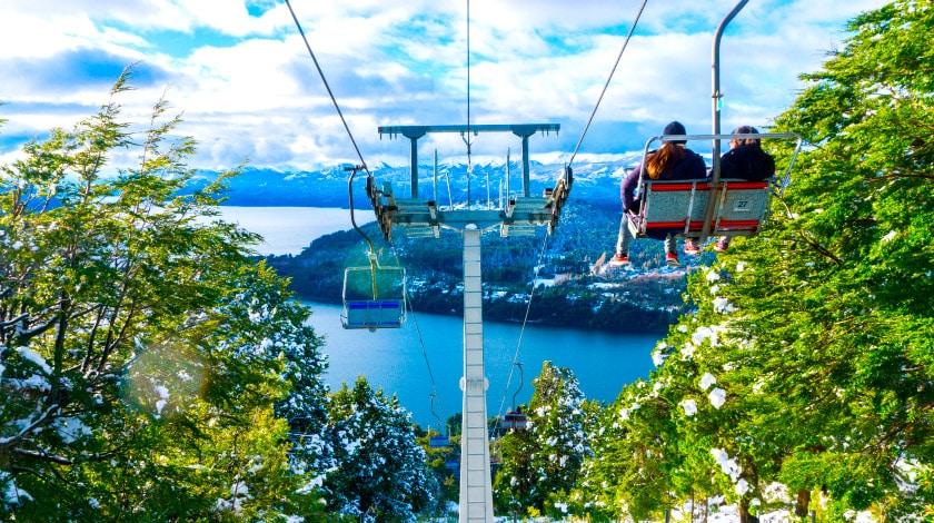 Teleférico em Bariloche, na Argentina, um dos destinos para 2020