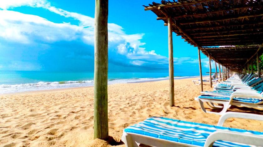 Praia do Club Med Trancoso, resort All-Inclusive no Nordeste