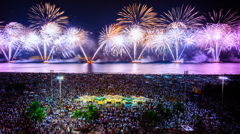 Réveillon de Copacabana, perfeito para viajar em dezembro