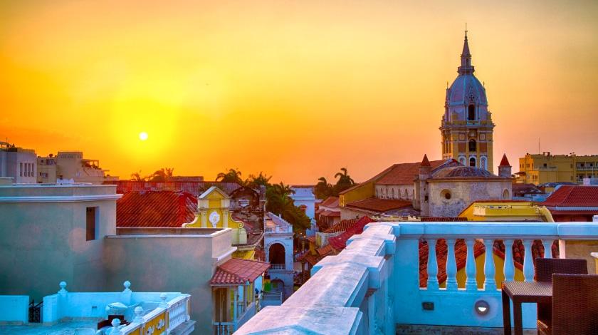 Vista geral de Cartagena, no Caribe Colombiano