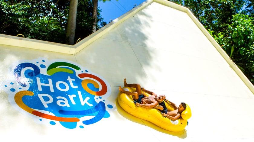 Half Pipe, uma das atrações do Hot Park, no Rio Quente
