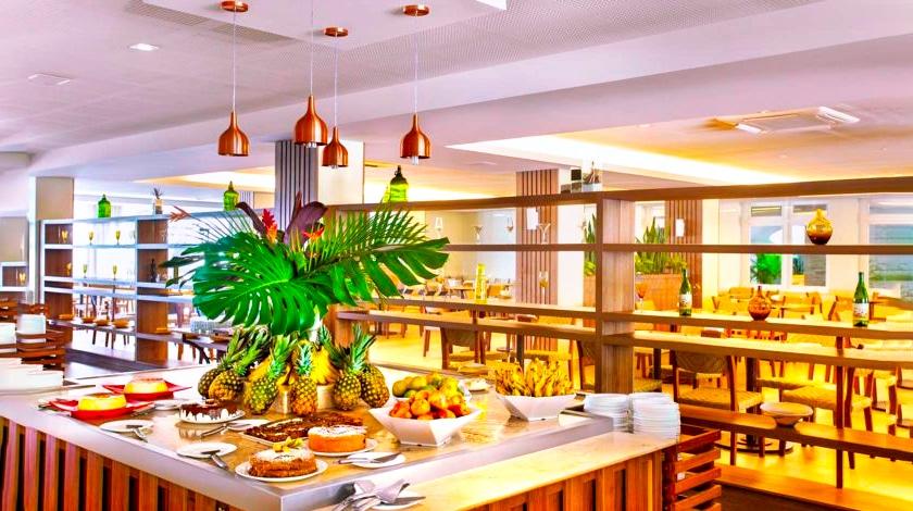 Restaurante Pequi, no Hotel Turismo, uma das hospedagens do Rio Quente