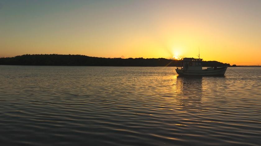 Pôr do sol em São Miguel do Gostoso, no Rio Grande do Norte