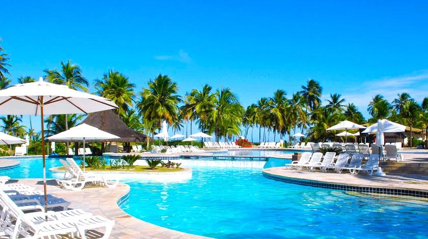 Uma das 10 piscinas do Complexo Costa do Sauípe