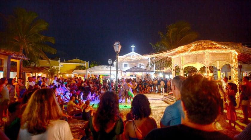 Show de dança na Vila Nova da Praia