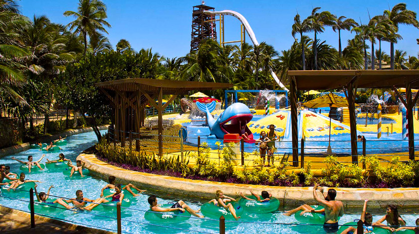Rio lento do Beach Park