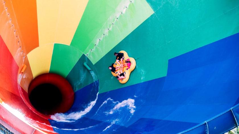 Foto do tobogã do parque aquático Beach Park
