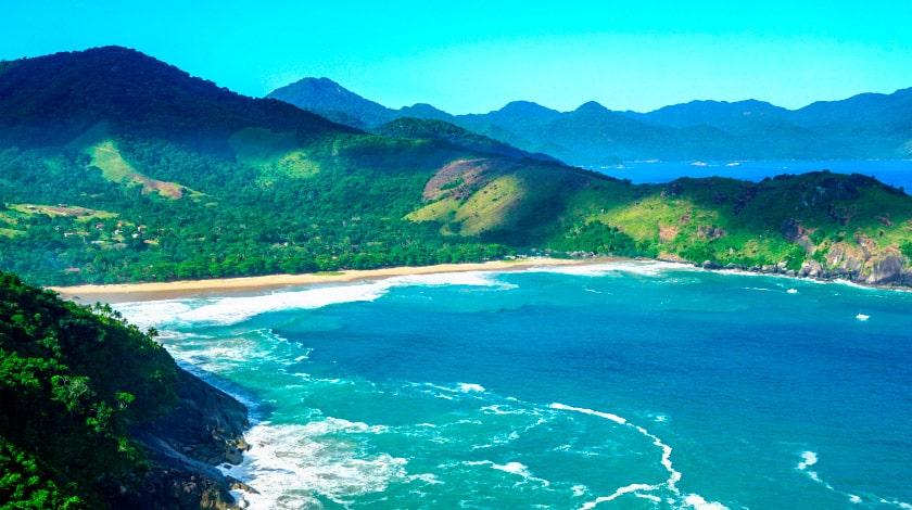 Praia Bonete, em Ilhabela, uma das mais bonitas do Litoral Norte de São Paulo e do Brasil