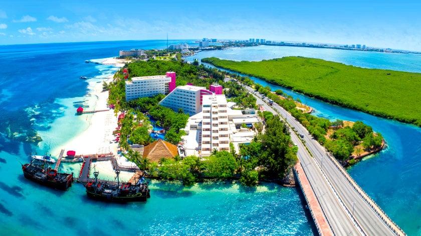 Vista geral do Grand Oasis Palm, em Cancun