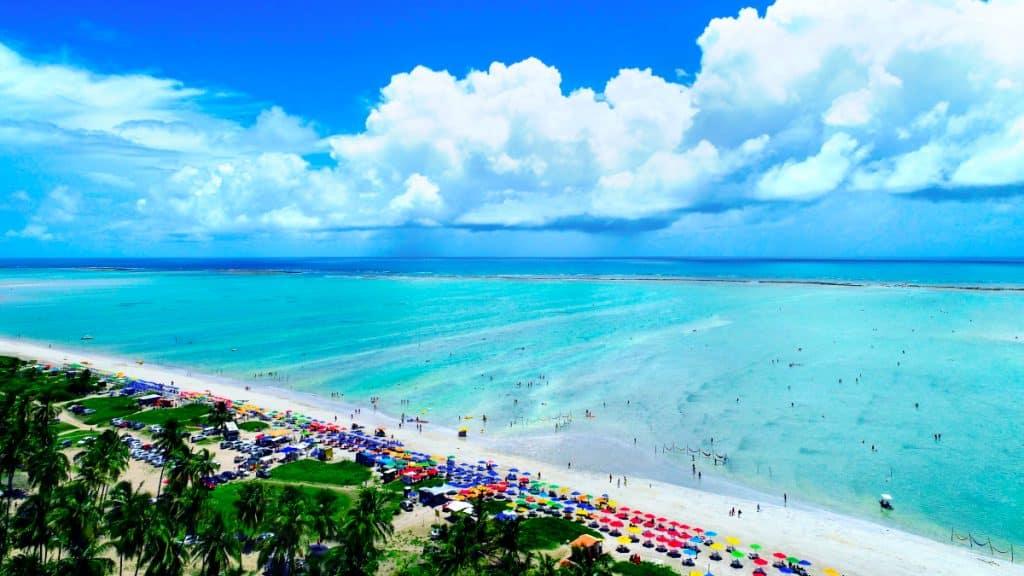 Praia de Alagoas, estado no Nordeste do Brasil