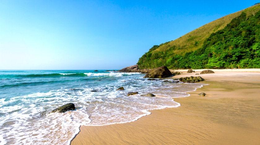 Praia de Paúba, em São Sebastião, Litoral de São Paulo