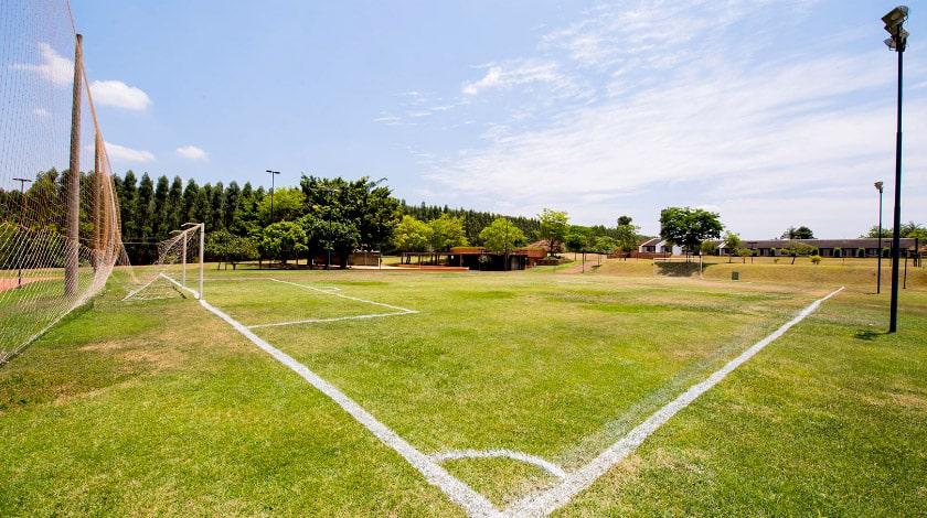 Campo de futebol no Blue Tree Thermas