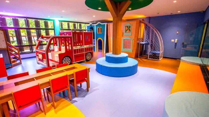 Kids Acqua Club, com recreação para crianças no Blue Tree Thermas