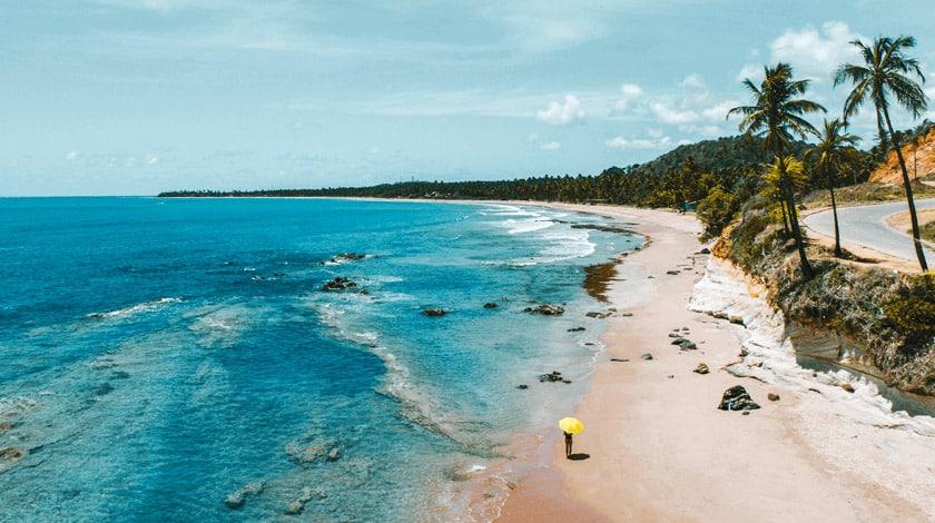 Vista geral da Praia de Japaratinga