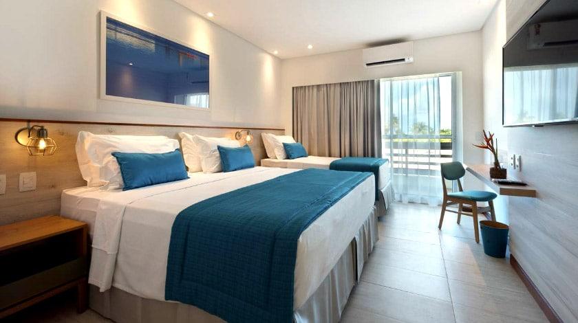Comodidades do quarto Standard, do Japaratinga Lounge Resort