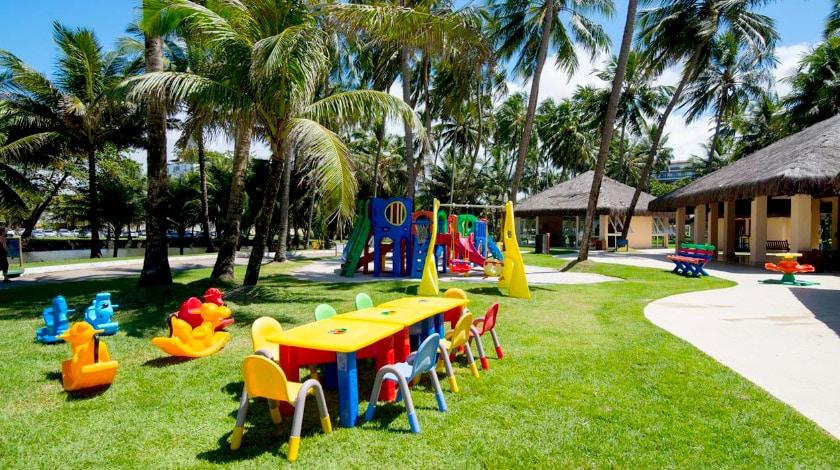 jatiúca resort com clube infantil recreativo; resorts para viajar com bebês