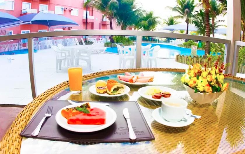 Café da manhã no Lagoa Quente Hotel