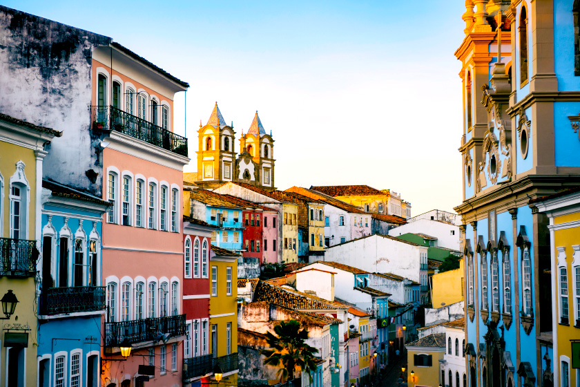 Foto do Pelourinho, em Salvador, Bahia, um dos principais destinos do Brasil