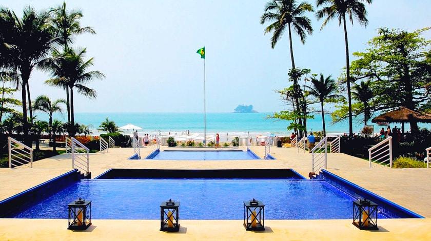 Vista praia do Sofitel Guarujá Jequitimar