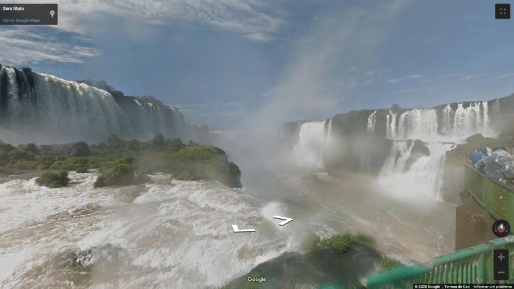Street View das Cataratas do Iguaçu, no Paraná