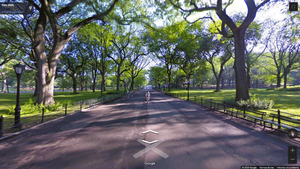 Street View do Central Park, em Nova York