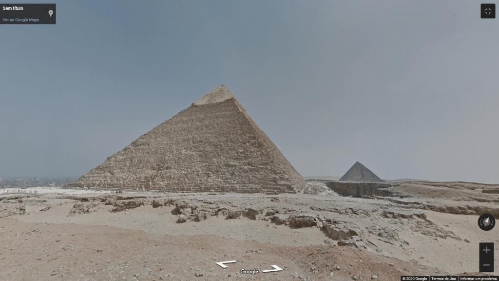 Street View das Pirâmides do Egito
