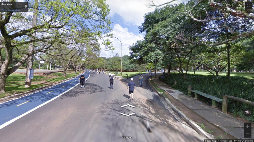 Street View do Parque Ibirapuera, em São Paulo