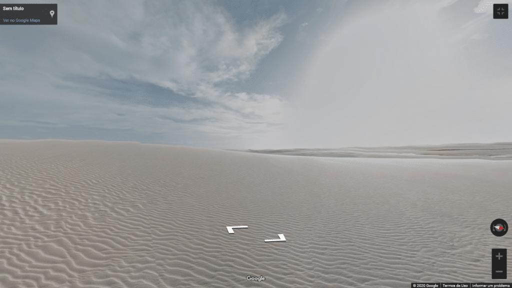 Street View das dunas dos Lençóis Maranhenses