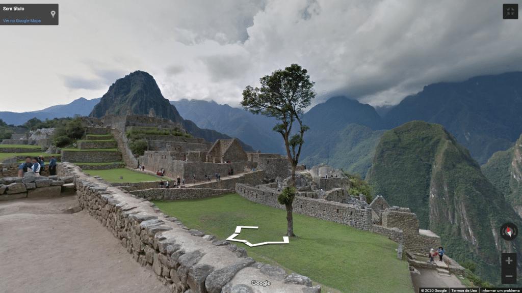Street View de Machu Picchu, no Peru