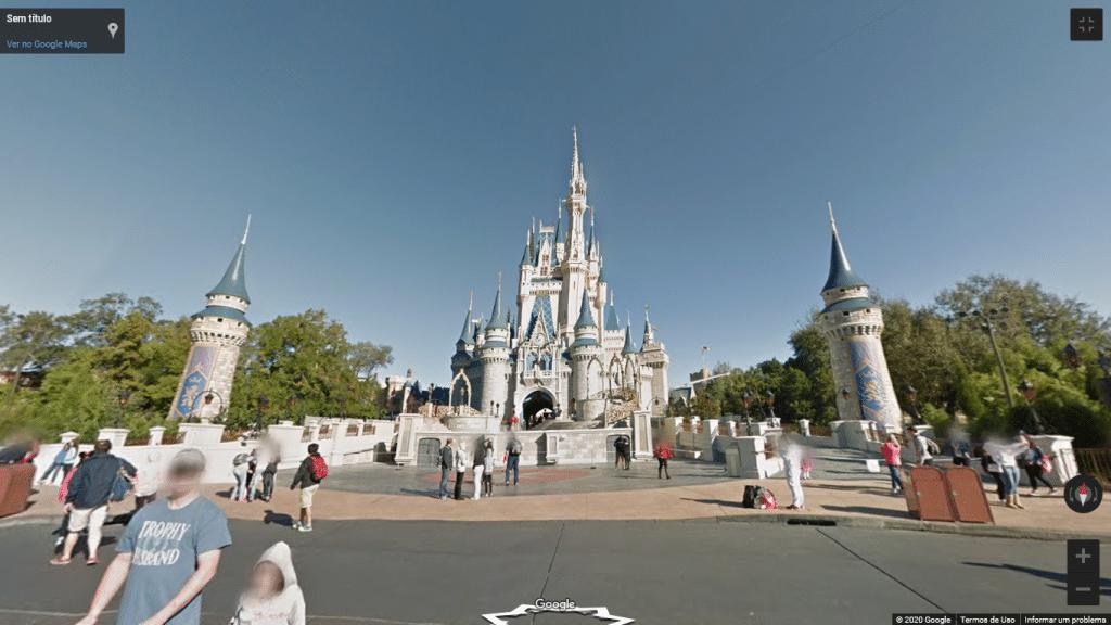 Street View do Magic Kingdom, na Flórida