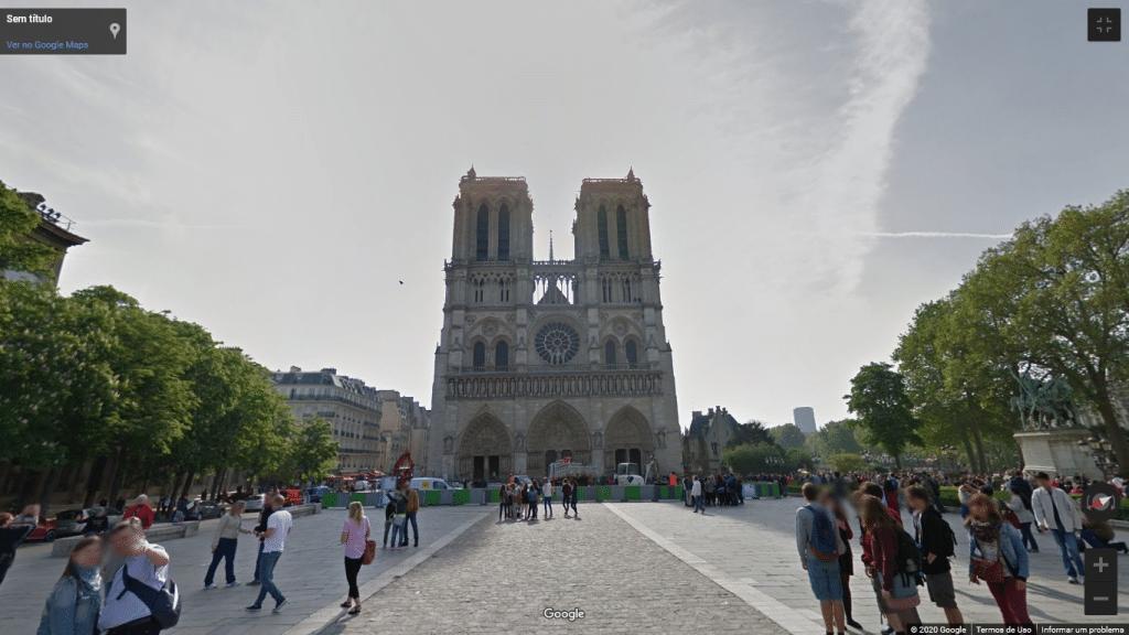 Street View da Catedral de Notre-Dame, em Paris