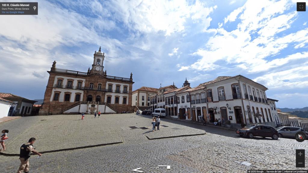 Street View de Ouro Preto, em Minas Gerais
