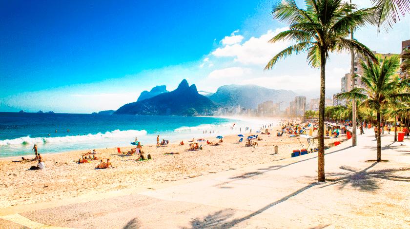 Calçadão da Praia de Ipanema, no Rio de Janeiro