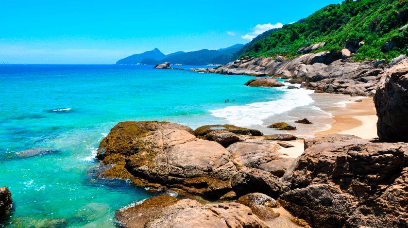 Praia de Lopes Mendes, em Angra dos Reis, no Rio de Janeiro