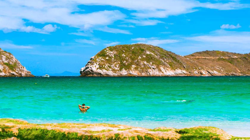 Praia do Farol, em Arraial do Cabo, no Rio de Janeiro