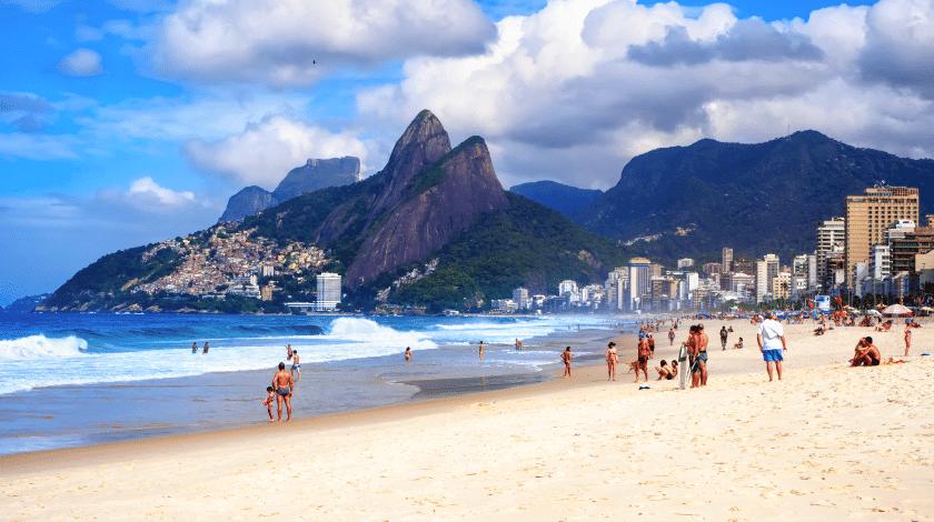 Praia do Leblon, no Rio de Janeiro