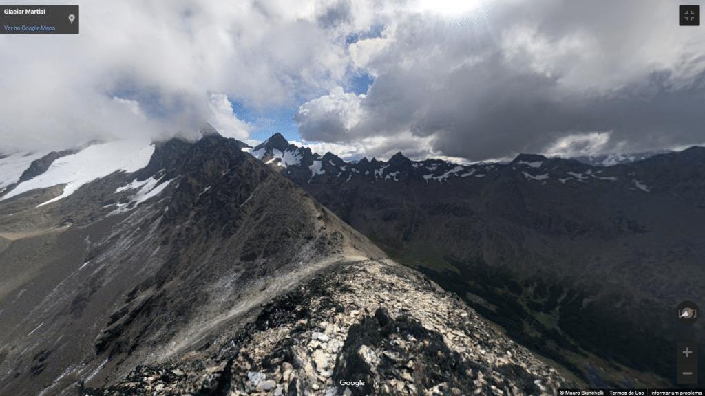 Street View das montanhas de Ushuaia, na Argentina