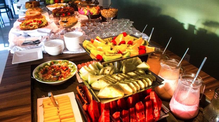 Café da manhã incluso na tarifa do Reserva Praia Hotel