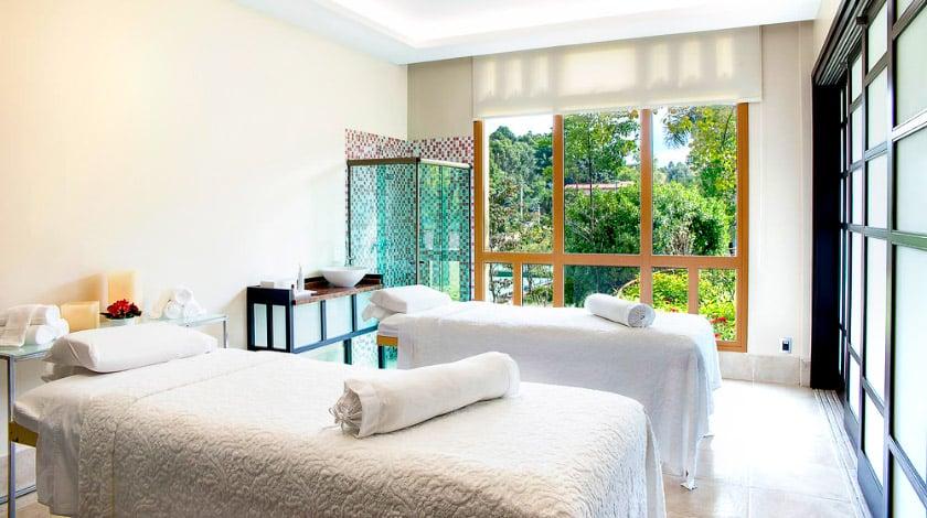 Camas de massagem do Aflora SPA