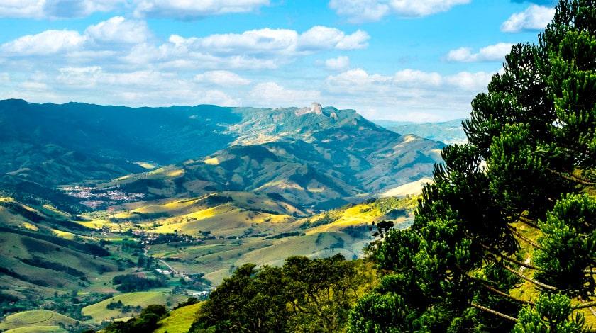 Vista geral de Itapeva, em Minas Gerais