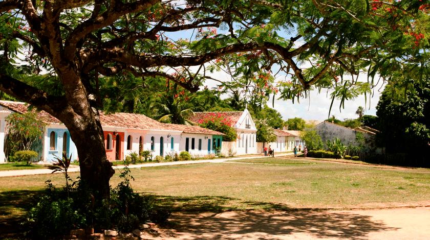 Centro histórico de Porto Seguro, ponto turístico da Bahia
