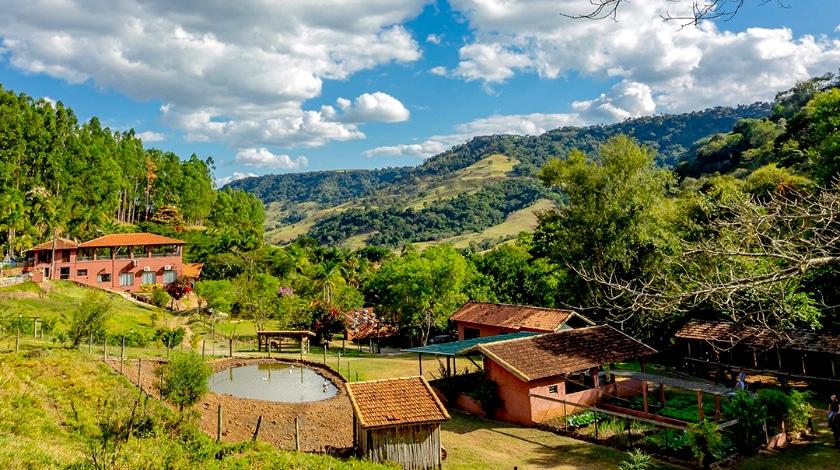 Vista geral da Fazenda Cachoeira da Furna - hotéis fazenda em SP
