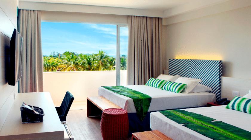 Acomodação do Hot Beach Resort, em Olímpia
