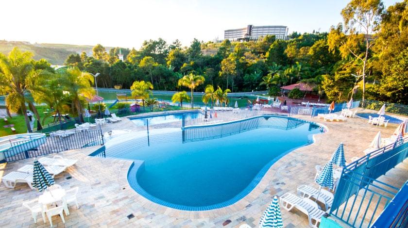 Foto da piscina do Vilage Inn Poços de Caldas