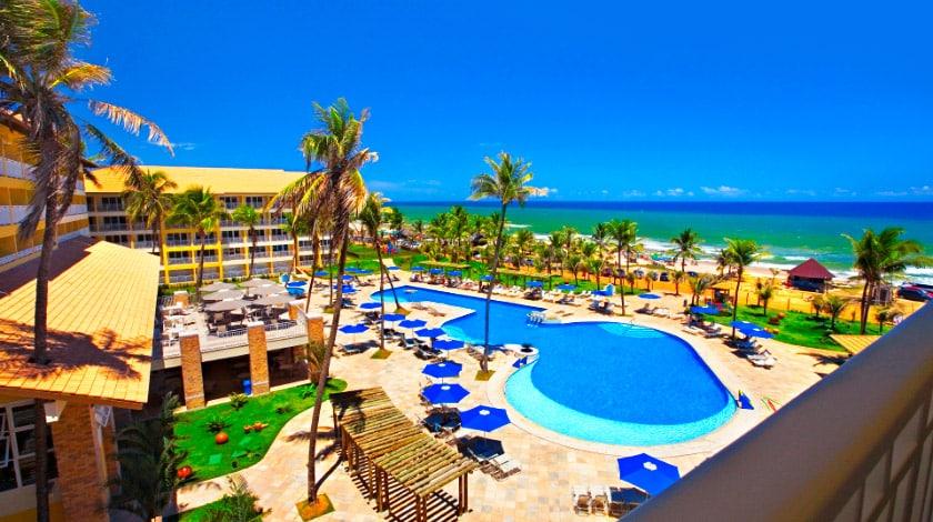 Foto da área da piscina do Gran Hotel Stella Maris